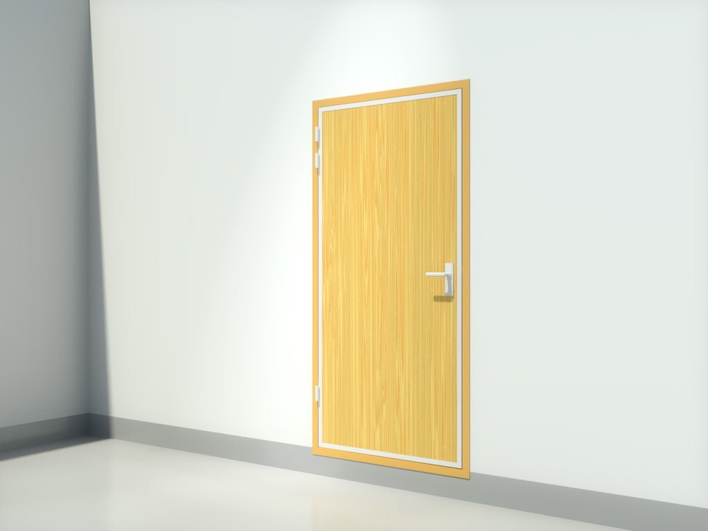 1 Hour Rated Steel Door